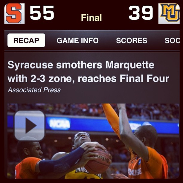 To Atlanta we go, Syracuse to the Final Four!! #OrangeNation