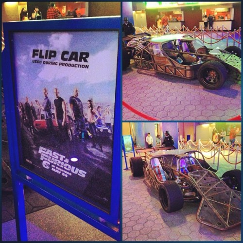laurendaisypacheco:  The #flipcar in #fastandfurious I haven't seen the film yet but this may entice me to catch that scene. Very cool. #stunts #filmmaking #fast6 (at AMC Universal Citywalk Stadium 19 with IMAX)