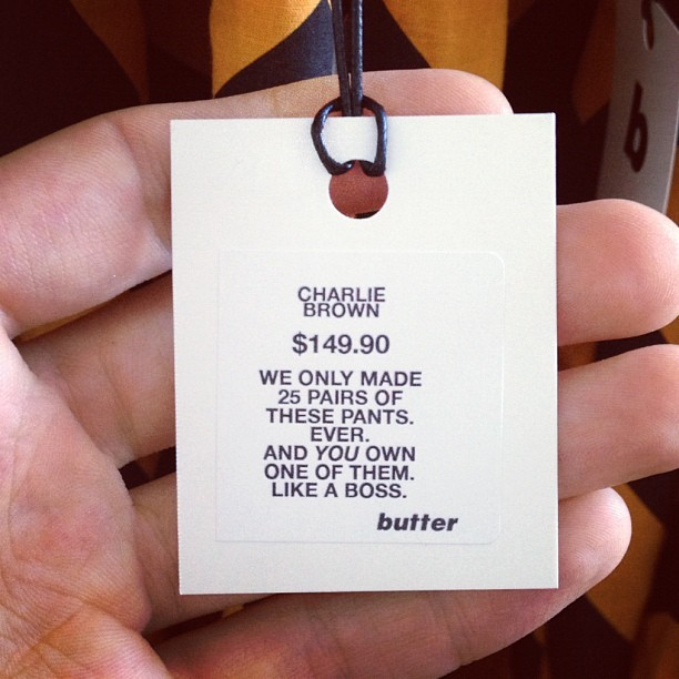 Just went to the Butter pop up. Buy a pair… Like a boss.