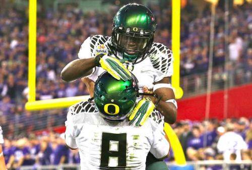 Oregon Football: Ducks 2013 Schedule Released For Public via GoDucks.com  The anticipated wait is over, and Chip Kelly and the Oregon Ducks now have an announced schedule for the 2013 NCAA season.  While running back Kenjon Barner may be heading to the NFL, head coach Chip Kelly hopes to give the Ducks a fighting chance at an NCAA title next season. His schedule to do such was released this morning.  Here it is below via GoDucks.com: Aug. 31    Nicholls StateSep. 7    @NevadaSep. 14    TennesseeSep. 28    California*Oct. 5    @Colorado*Oct. 12  @Washington*Oct. 19    Washington State*Oct. 26    UCLA*Nov. 7    @Stanford*Nov. 16    Utah*Nov. 23  @Arizona*Nov. 29    Oregon State* Which football game are YOU most looking forward to? #GoDucks