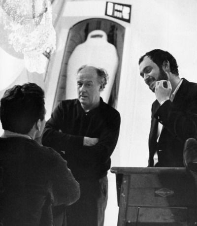 Cinematographer Geoffrey Unsworth and Stanley Kubrick on the 2001 set via Alternative Film Guide