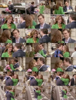 Blair : Why aren't you in Europe ?Chuck : I was in Paris. But only to get your favorite macaroons from Pierre Herm.Blair : And Germany ?Chuck : To pick up your favorite falke stockings. You know how I adore them.Blair : What are you doing here then ?Chuck : You were right. I was a coward running away again. But everywhere I went…you caught up with me. So I had to come back.Blair : I want to believe you… But I can't. You've hurt me too many times.Chuck : You can believe me this time.Blair : That's it?Chuck : I love you too.Blair : But can you say it twice ? No I'm serious. Say it twice.Chuck : I love you…I love you. There's three. Four… I love you…