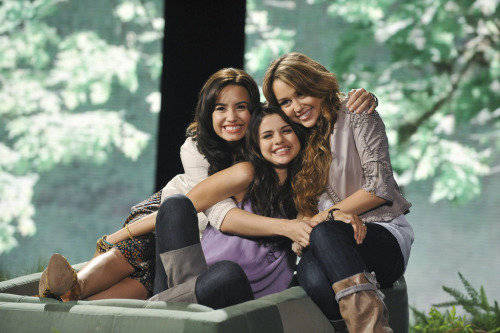 Demi, Selena and Miley