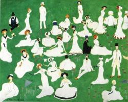thegiftsoflife:  Kazimir Malevich, Rest. Society in Top Hats, 1908.