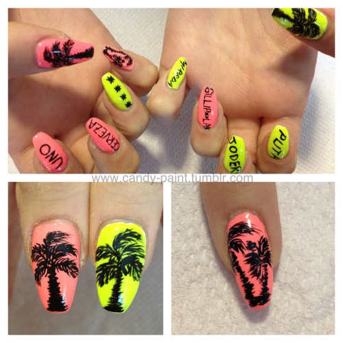 Spanish & palm trees for Dena's trip to Mexico!