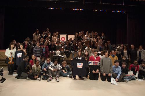 【TOMODACHIプロジェクト】  東日本大震災により甚大な被害を受けた福島県から選抜された大学生と東京フィルハーモニー交響楽団の若手演奏者たちがニューヨークの音楽学校学校を訪問し、音楽を通じて現地高校生と交流を行いました。 当日の様子など、詳細はこちらよりご覧くださいませ。 http://corp.rakuten.co.jp/csr/activities/sports-culture/musicpower/tomodachi/