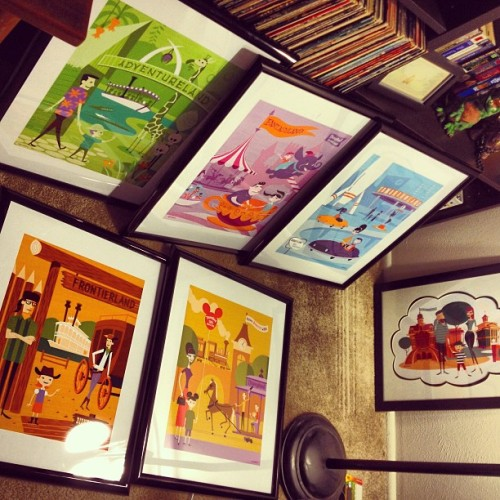 So much #shag artwork to hang up. #disneyland #retro #disney #art