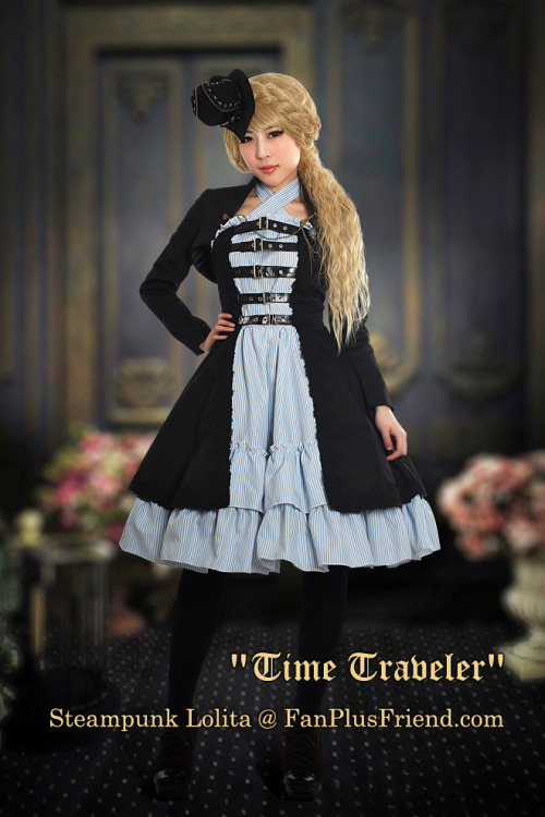 "sagashidasu:   ""Time Traveler"": Steampunk Lolita Double-Layer Dress- $95.00"