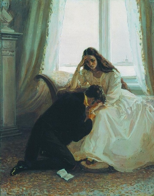 tea-and-tales:  Ilustration for Alexander Pushkin's Eugene Onegin by Lidia Timoshenko