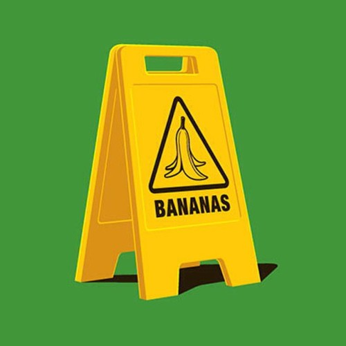 glennz:  Caution Bananas Tshirt at Glennz Tees www.glennz.com #glennz #glennjones #tshirt #adobeillustrator #ai #illustrator #illustration #art #design #vector #graphicdesign #create #draw #instaartist #instaart #artsy #creative #graphics #bestvector #designdaily #thedesigntip #graphicart #bananas #slipperywhenwet