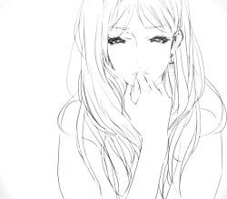 anime draw manga monochrome Anime girl