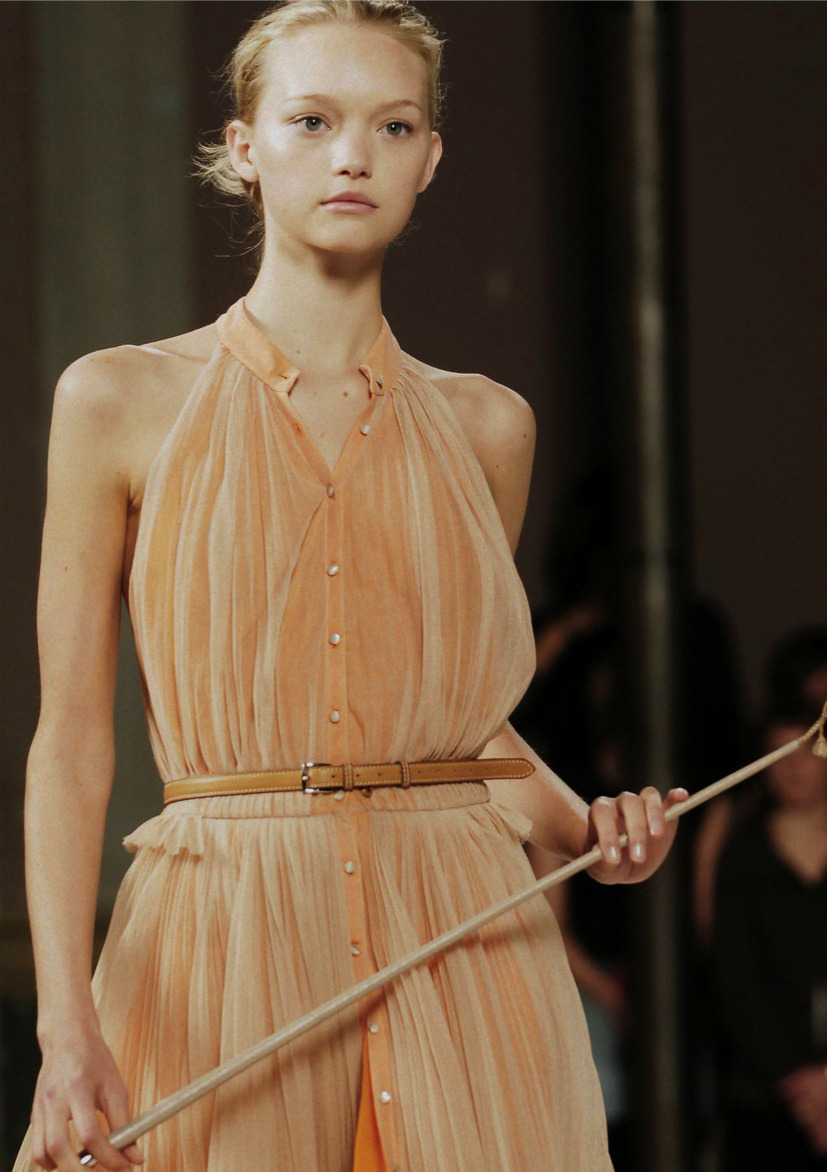 sfilate:  Gemma Ward at Hermès S/S 2006