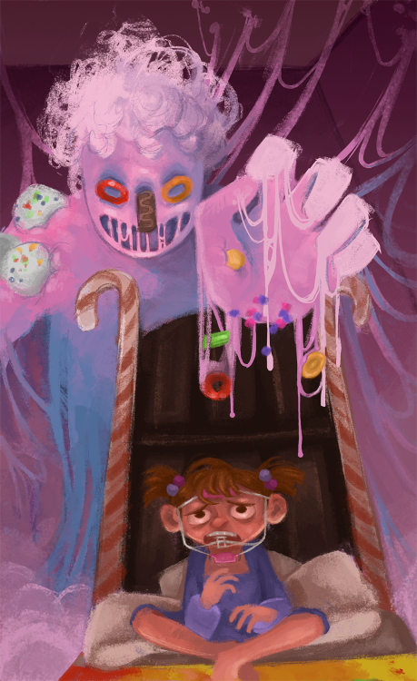 pattisartparade:  nasty chewed bubble gum monster is go  grah look what my roommate did.