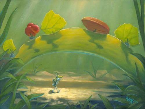"tinkeperi:  Disney Fine Art: ""Finding a new path"" by Rob Kaz"
