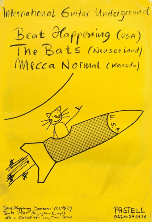 Pre-Photoshop world. krecs:  samuel-rudich:  Flyer for Beat Happening, during their 1988 European tour.  Radical!