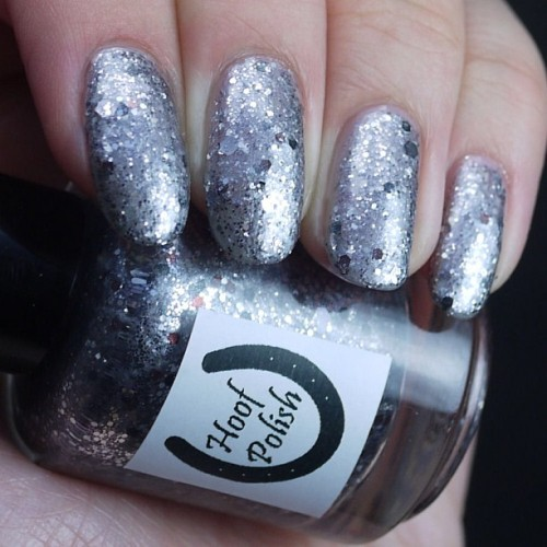 clawofcthulhu:  Saved my fave Hoof Polish from @puckzilla23 for last! Appropriately named Puckzilla! This is 3 coats on its own.  http://instagr.am/p/W4uDd4M1YZ/