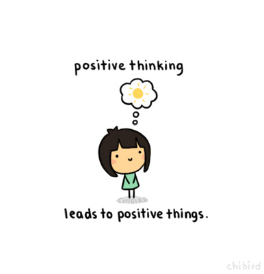 Being positive and clearing your head of negativity can help you focus on the good things in life and overcome the bad. : )