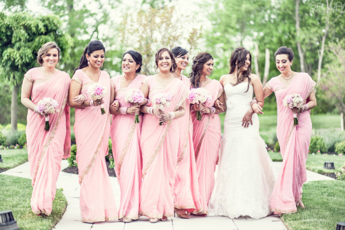 beautifulindianbrides:  Photo by:Salwa I love love this picture , the bridesmaids look so perfect