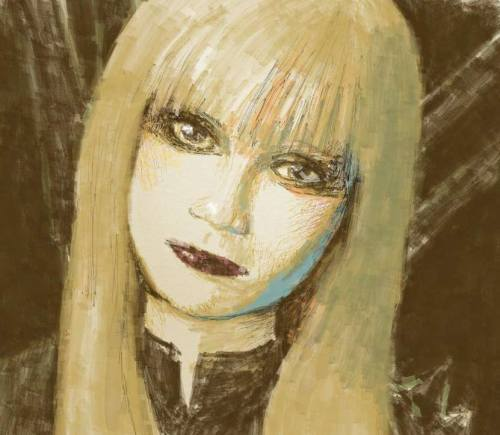 "Magik misdirection. A study of Illyana's face and demeanor done in Odosketch. I've a soft spot for Magik because of the raw deal that was her life. I say ""was"" because since she was six she's been kidnapped twice, raised in hell ( might as well, this limbo/otherplace), finally returned to her family as a child again only to contract the Legacy Virus—and she dies.   Yes, this Illyana we're following is not the real one. Belasco couldn't let her go.   The spell managed to pull forth the remaining essence and memories of Illyana still held within Limbo's dimension. The essence took shape but was the Darkchilde, the semi-demonic version of Illyana corrupted and transformed by dark magic. —Wikipedia entry on Magik"