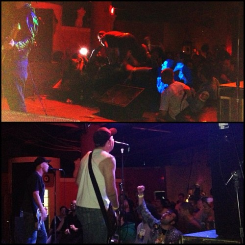 Blag of The Dwarves crowd surfing & The Queers killing it at Korova yesterday.   Punk rock keeps you young.