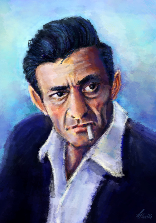 Johnny Cash Portrait Had fun making this, still learning a lot about colour. Back to cartooning soon!