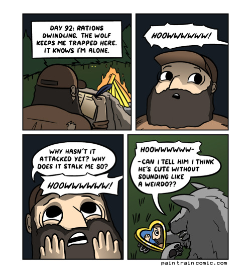 paintraincomic:  How  would a mauling be too obvious?
