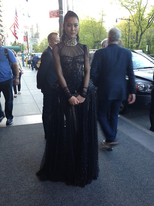 Liu Wen in Alexander McQueen at the Costume Institute Gala in NYC, May 6th