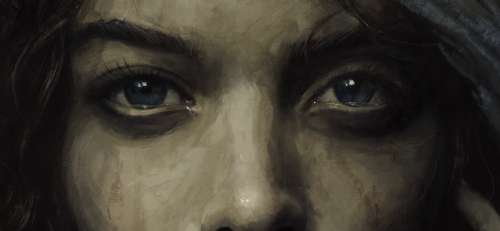 My portrait of the Virgin should be done by tomorrow, here's a snippet. Also, on Tuesday I'll get to reveal the poster I painted for the Sundance Film Festival Best Documentary-winning movie, Blood Brother, which I'm fairly excited about.