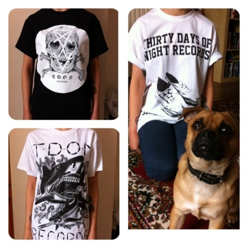 £5 shirts! Ltd amount of each design! http://thirtydaysofnightrecords.bigcartel.com/