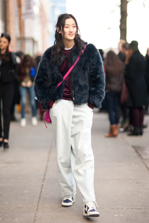 Lina Zhang (张丽娜, Fusion Models) after Rodarte FW13 Jacket: Zara Pants: Margiela for H&M