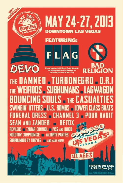 Updated Punk Bowling band listing.That's hella bands, Las Vegas May 24-27! Get your info here: https://punkrockbowling.com/