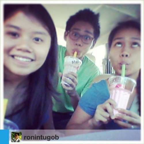 Beating the heat with Starr's bubblegum milk shake. :) #Repost from @ronintugob with @repostapp