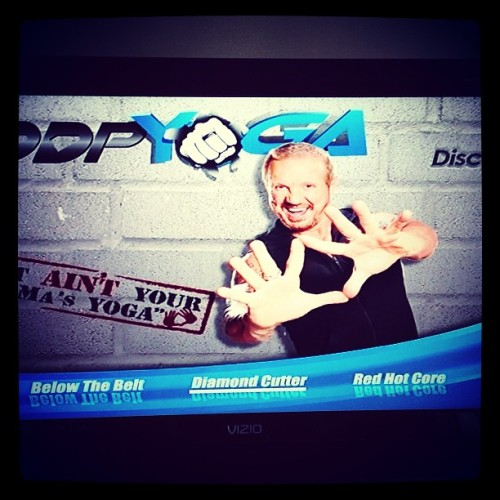 Been looking forward to this #DDPYOGA #DiamondCutter all day! About to feel the #BANG!