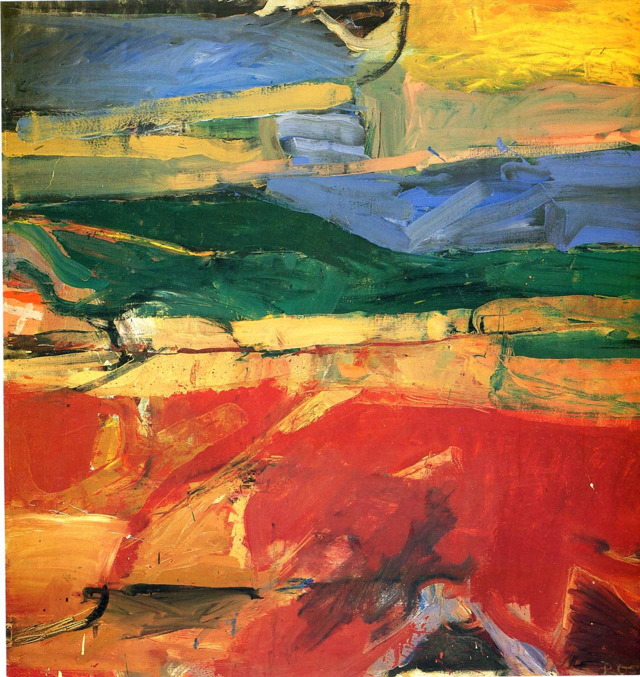 peira:  drawpaintprint: Richard Diebenkorn:  Berkeley, no. 32 (1955)