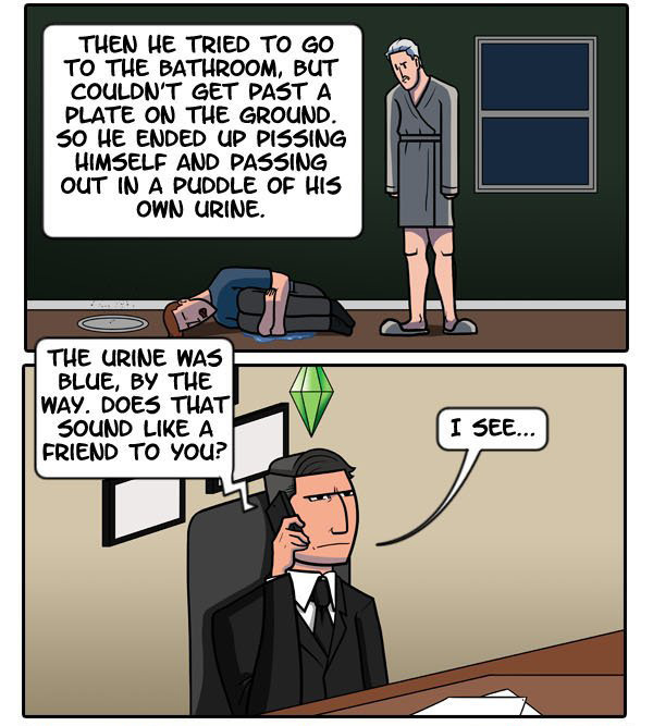 dorkly:  The Sims Career Ladder