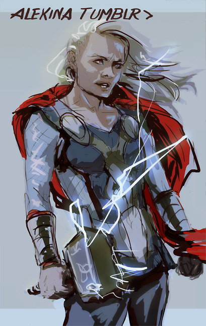 wehee fem!thor i swear if I ever do comics…