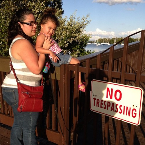 @dee214 caught me breaking the law with her mini child. I'm not as sneaky as I thought. I wonder if the 2 drinks I had mins before had anything to do with that…hmmm