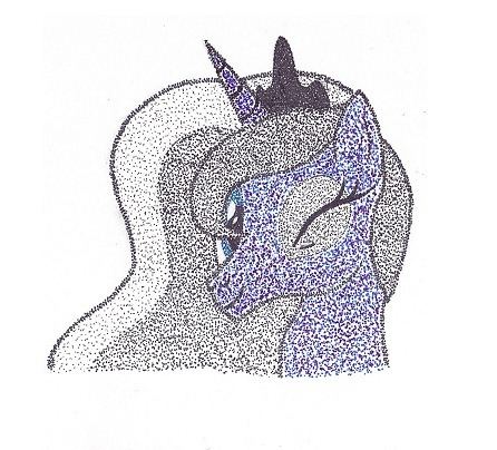 Color Stipple Luna