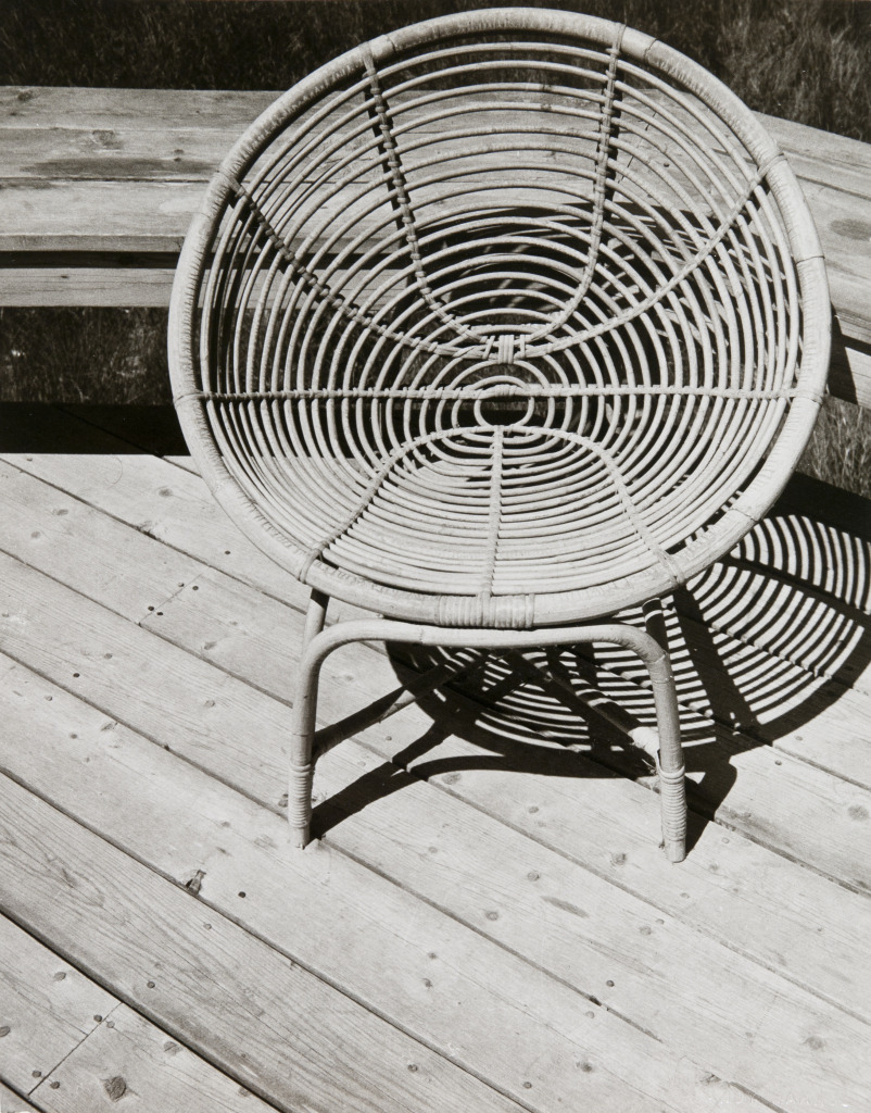 iamjapanese:  Andy Warhol(American, 1928-1987) Wicker Chair in Fire Island   1982 Unique Silver Gelatin Print
