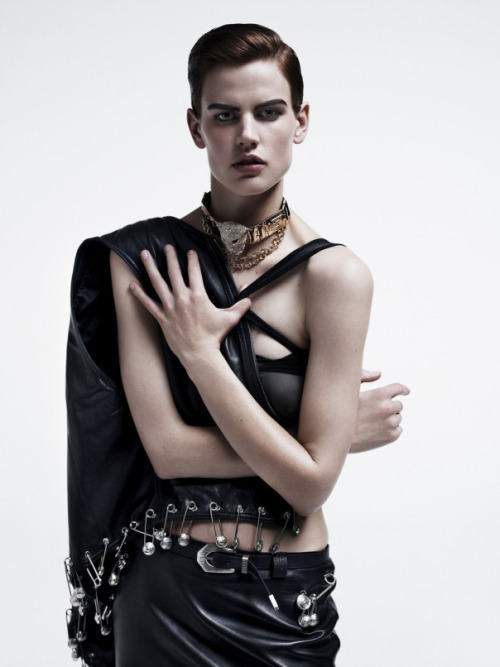 stormtrooperfashion:  Saskia de Brauw by Josh Olins for Industrie Magazine #4 See more from this set here.