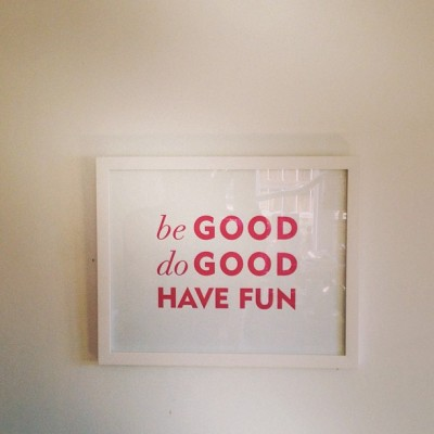 Be good do good have fun. #sugarpaper at #homewithheart #115cherokee #charlotte  (at home with heart -lakbdesign shop & studio)