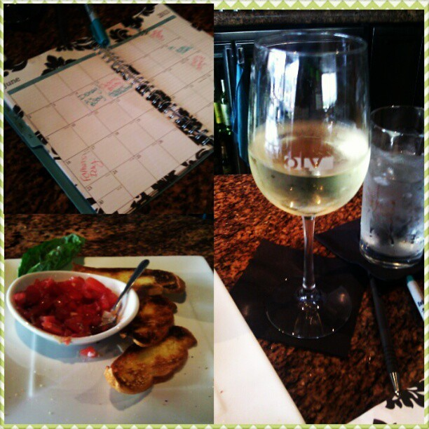 A little lunch :) happy girl today…  #semesterpleasedontstart #Orlando #olv #wine #planning  #moreclinicaltime   #almostdone  #nursingschool  #thisiswhatillbedoingallthetime