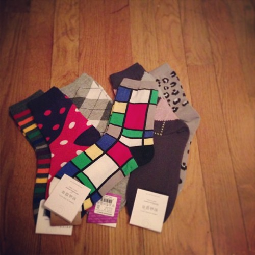 grr bundling. took home a six-pack of socks just for the #mondrian.
