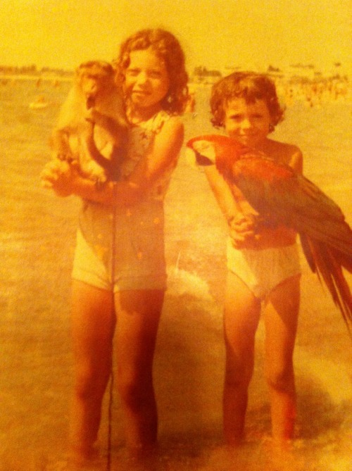 Infantile: Misha Trubs [Misha is the boy on the right with the bird, not the bird on the left with the monkey.]