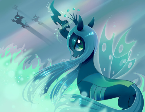 elrincondelpony:   Queen Chrysalis by ~MisteeLala