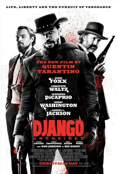 10 second movie review:  Django Unchained:  In which QT turns his not insubstantial talent to the western genre and puts six shots into the bullseye.