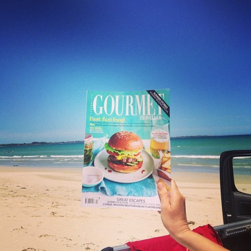 Well, look who's on the cover of Gourmet Traveller! Congrats to @huxtaburger, @snooperdan, etc!!  (at Third Ramp Long Beach)