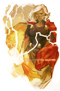 mondodinerd:  La pin-up del giorno: Lady Thor, by MischievousMartian. lulubonanza:  Lady Thor by *MischievousMartian