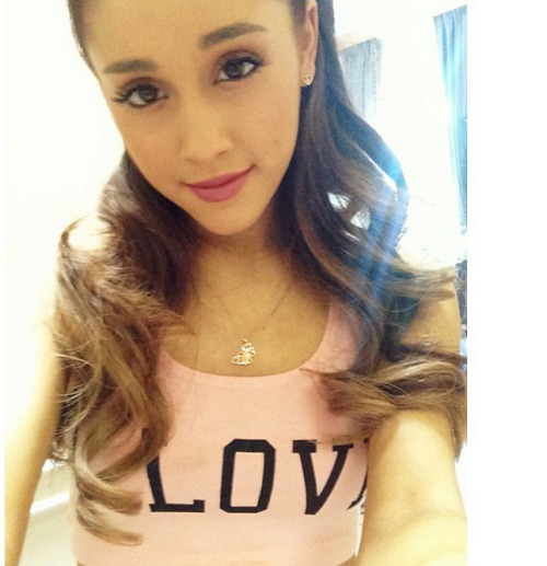 @arianagrande Looking adorable in our I Love Valley Girl tank at sound check before yesterday's Wango Tango performance – get yours here: http://wildfox.me/valley-girl-tank