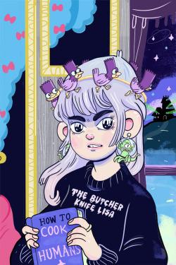 Illustration art the simpsons television fan art treehouse of horror artists on tumblr natali koromoto